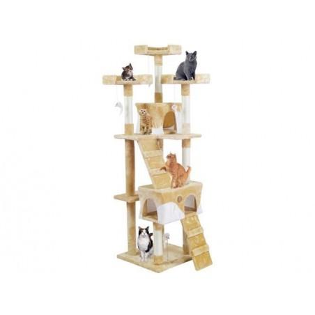 Drzewko dla kota 170cm beżowo-białe