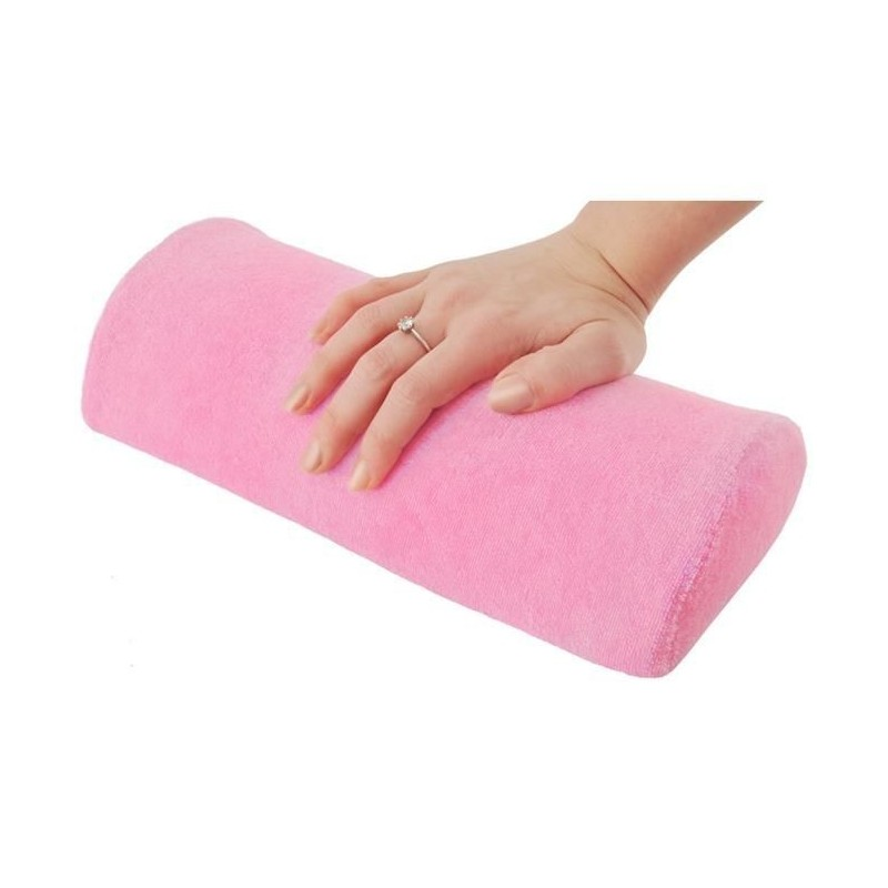 Podkładka do manicure różowa - frota