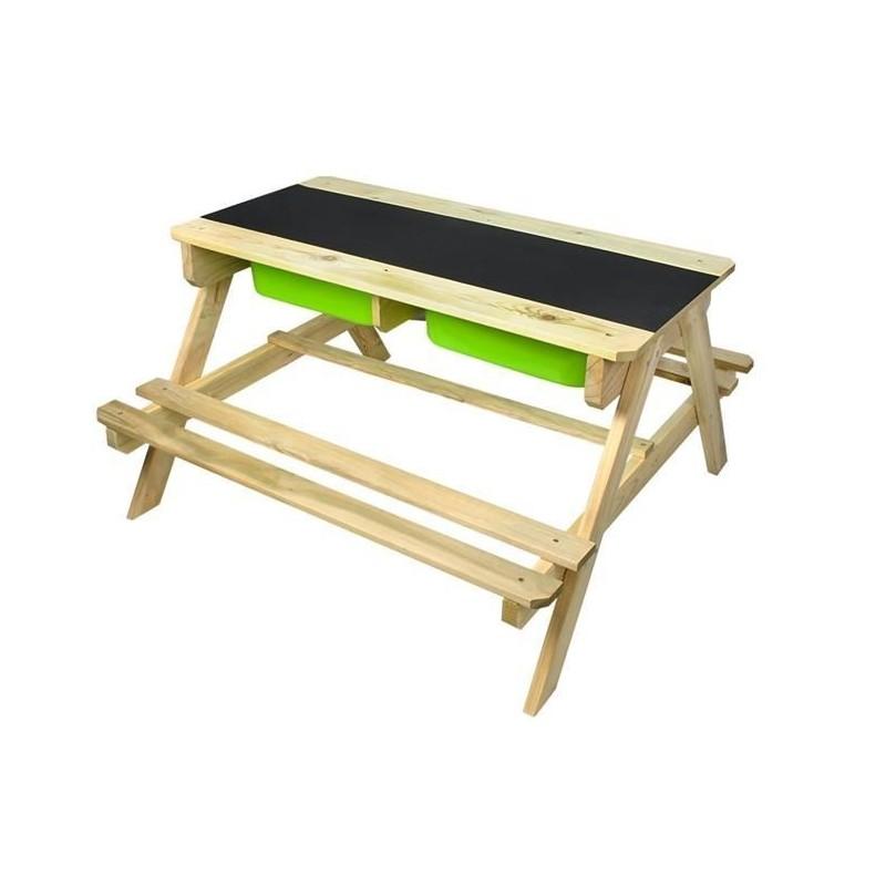 Zestaw mebli drewnianych 2w1