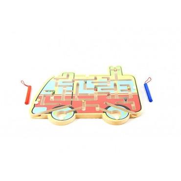 Drewniany labirynt magnetyczny auto samochód