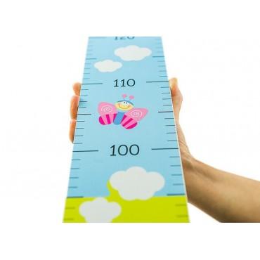 Drewniana linijka miarka wzrostu solidna do 150 cm
