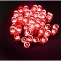 Lampki 40 LED na baterie - czerwony