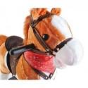 Koń na biegunach 65cm/K6027 - jasny brąz