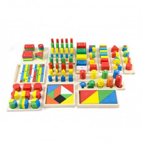 Duży zestaw montessori sorter i kształty