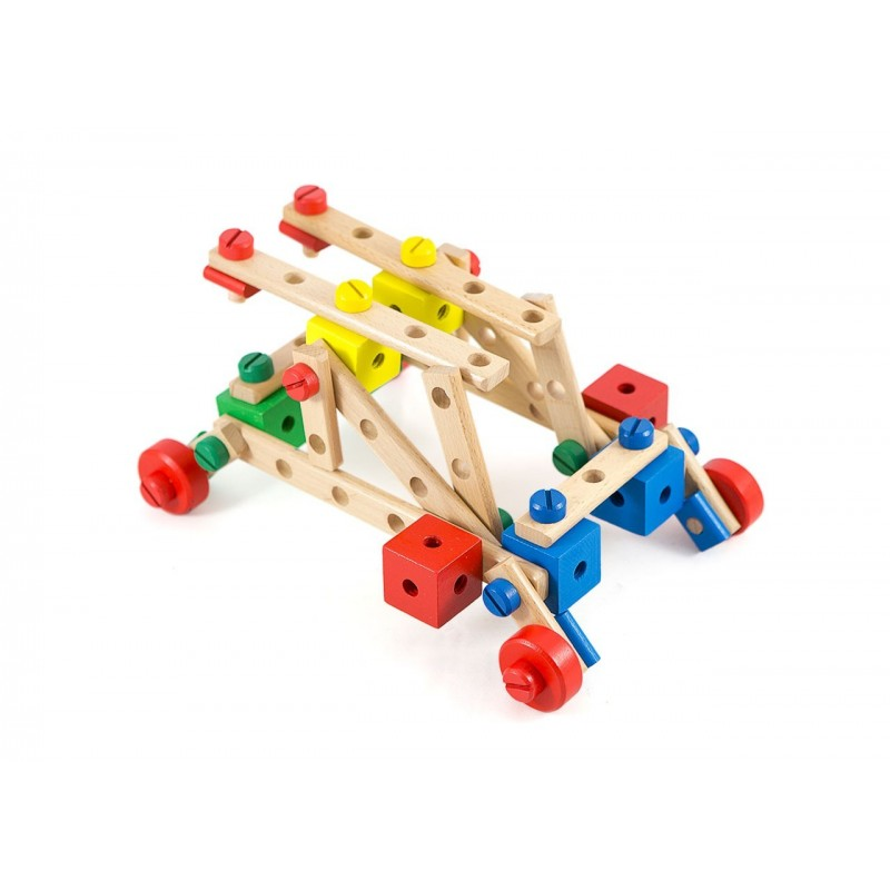Drewniany zestaw konstrukcyjny pojazdy Lilupi