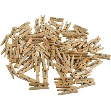 Klamerki drewniane mini -...