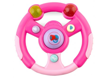 Kierownica, kluczyki, pilot - zestaw różowy