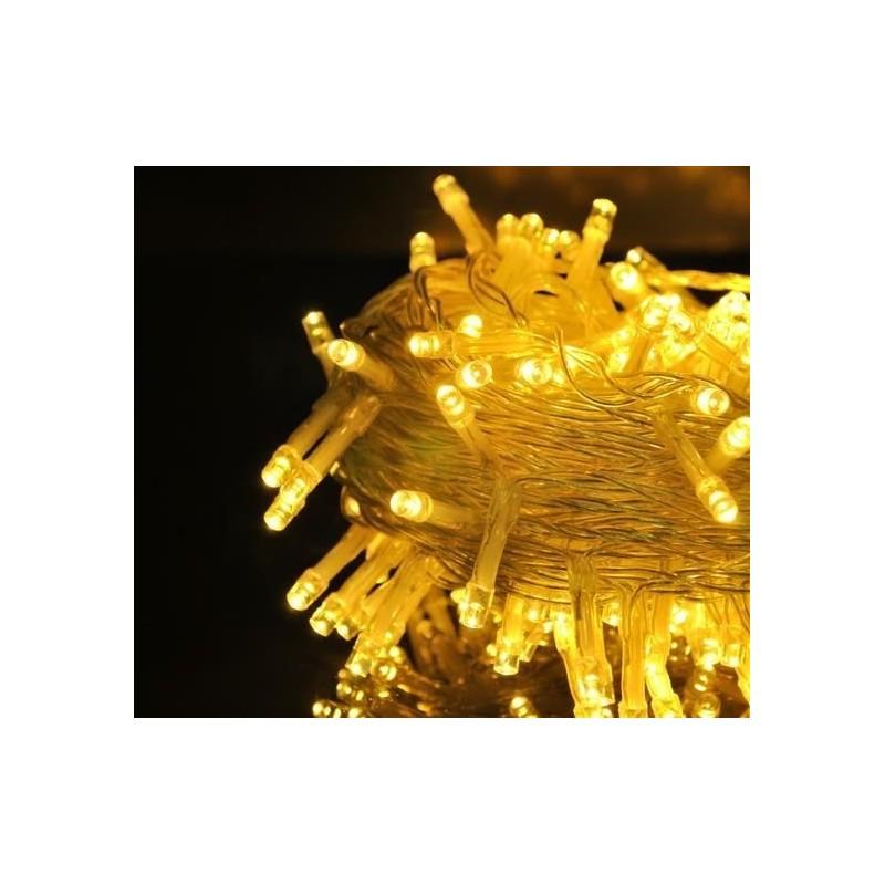 Lampki 100 LED 30V - ciepły biały