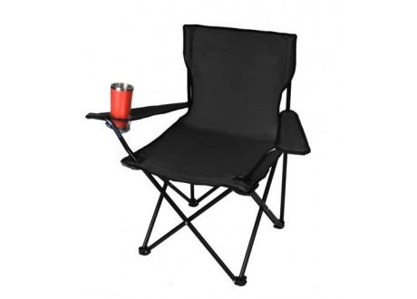 Krzesło wędkarskie czarne K8001