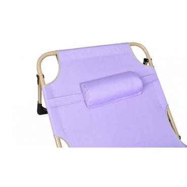 Leżak plażowy - fioletowy