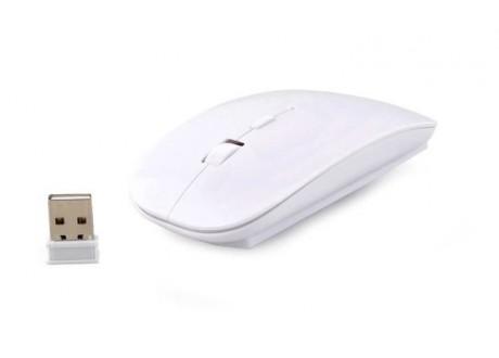 Mysz bezprzewodowa ultracienka biała