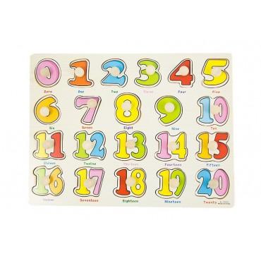 Drewniane puzzle z uchwytami liczby 30x23 cm