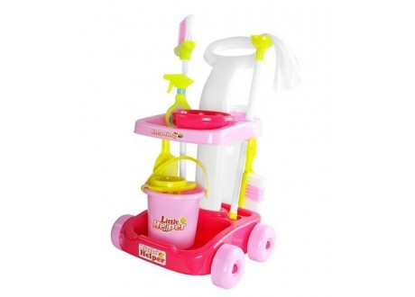 Wózek do sprzątania z mopem zabawkowy