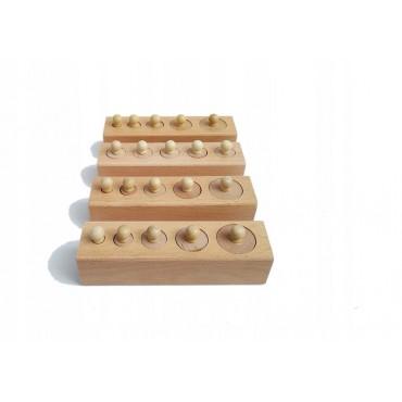 Cylindry Montessori bloki z...