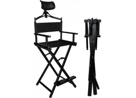 Krzesło do makijażu aluminiowe z zagłówkiem