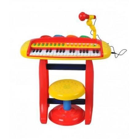 Organy dla dzieci z mikrofonem i tabor. basic CZER