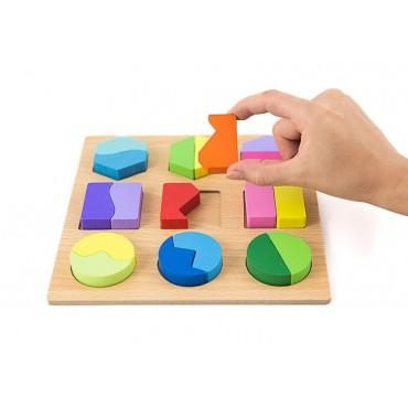 Sorter płaski ukladanka drewniana puzzle klocki