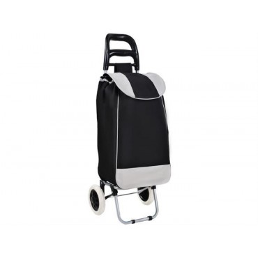 Wózek zakupowy czarno-szary
